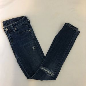 Citizens of humanity distressed skinny jeans 25
